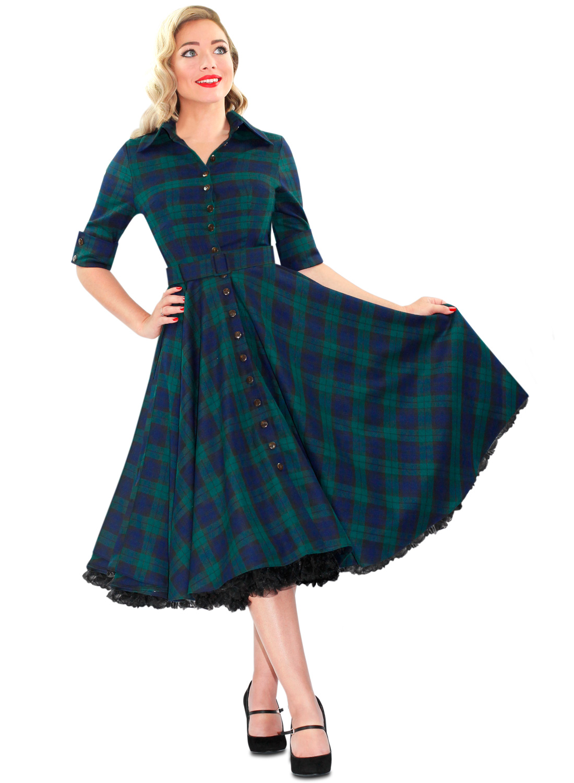 Blackwatch plaid dress